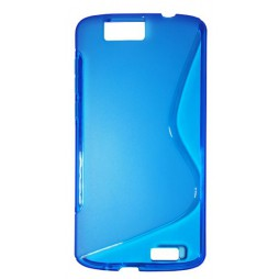 Huawei Ascend G7 - Gumiran ovitek (TPU) - modro-prosojen SLine