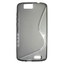 Huawei Ascend G7 - Gumiran ovitek (TPU) - sivo-prosojen SLine