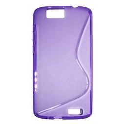 Huawei Ascend G7 - Gumiran ovitek (TPU) - vijolično-prosojen SLine