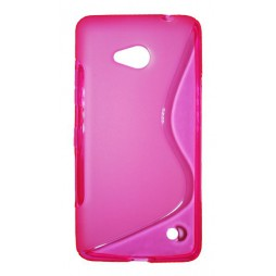 Microsoft Lumia 640 LTE - Gumiran ovitek (TPU) - roza-prosojen SLine