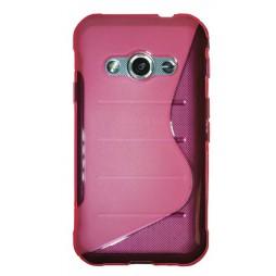 Samsung Galaxy Xcover 3 - Gumiran ovitek (TPU) - roza-prosojen SLine