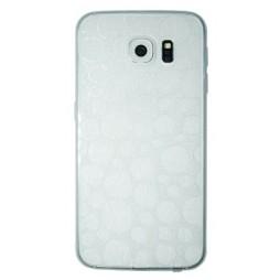 Samsung Galaxy S6 - Gumiran ovitek (21krogci) - bel