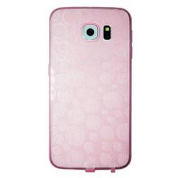 Samsung Galaxy S6 - Gumiran ovitek (21krogci) - roza