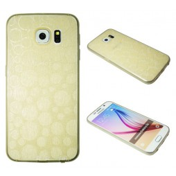 Samsung Galaxy S6 - Gumiran ovitek (21krogci) - zlat