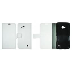 Microsoft Lumia 640 LTE - Preklopna torbica (WLG) - bela