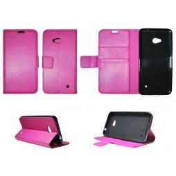 Microsoft Lumia 640 LTE - Preklopna torbica (WLG) - roza