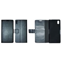 Sony Xperia M4 Aqua - Preklopna torbica (WLG) - črna