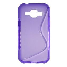 Samsung Galaxy J1 - Gumiran ovitek (TPU) - vijolično-prosojen SLine