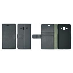 Samsung Galaxy J1 - Preklopna torbica (WL) - črna
