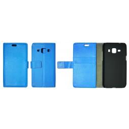 Samsung Galaxy J1 - Preklopna torbica (WL) - modra