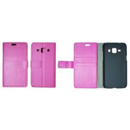 Samsung Galaxy J1 - Preklopna torbica (WL) - roza