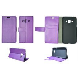 Samsung Galaxy J1 - Preklopna torbica (WL) - vijolična