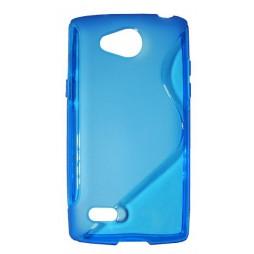 LG Joy - Gumiran ovitek (TPU) - modro-prosojen SLine