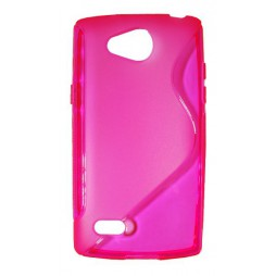 LG Joy - Gumiran ovitek (TPU) - roza-prosojen SLine