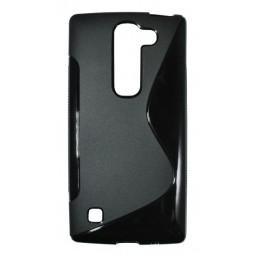 LG Spirit 4G LTE - Gumiran ovitek (TPU) - črn SLine