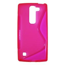 LG Spirit 4G LTE - Gumiran ovitek (TPU) - roza-prosojen SLine