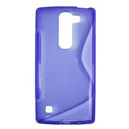 LG Spirit 4G LTE - Gumiran ovitek (TPU) - vijolično-prosojen SLine