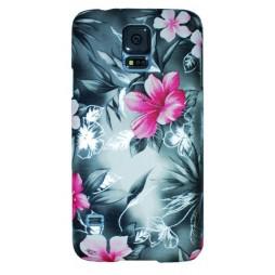 Samsung Galaxy S5/S5 Neo - Okrasni pokrovček (64P) - črn