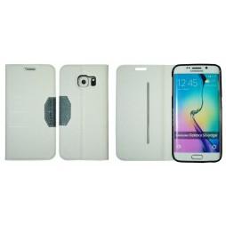 Samsung Galaxy S6 Edge - Preklopna torbica (47G) - bela