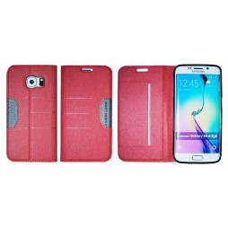 Samsung Galaxy S6 Edge - Preklopna torbica (47G) - rdeča