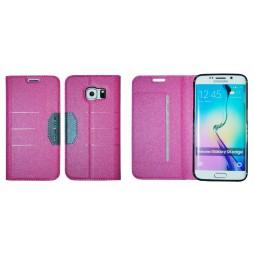 Samsung Galaxy S6 Edge - Preklopna torbica (47G) - roza