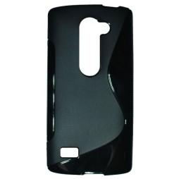 LG Leon - Gumiran ovitek (TPU) - črn SLine