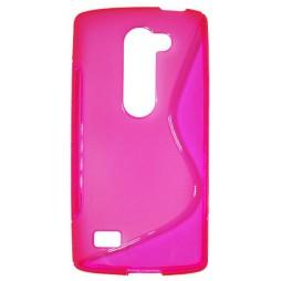 LG Leon - Gumiran ovitek (TPU) - roza-prosojen SLine