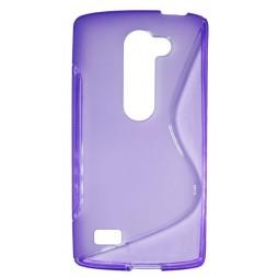LG Leon - Gumiran ovitek (TPU) - vijolično-prosojen SLine
