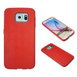 Samsung Galaxy S6 - Gumiran ovitek (08) - rdeč