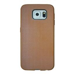 Samsung Galaxy S6 - Gumiran ovitek (08) - rjav