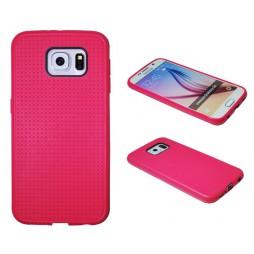 Samsung Galaxy S6 - Gumiran ovitek (08) - roza