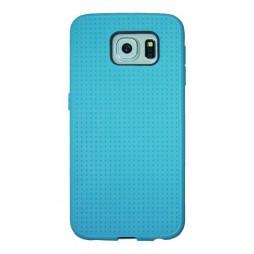Samsung Galaxy S6 - Gumiran ovitek (08) - svetlo moder
