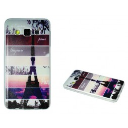Samsung Galaxy A3 - Gumiran ovitek (TPUP) - Colorful Eiffel tower