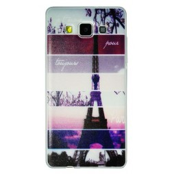 Samsung Galaxy A5 - Gumiran ovitek (TPUP) - Colorful Eiffel tower