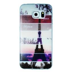 Samsung Galaxy S6 Edge - Gumiran ovitek (TPUP) - Colorful Eiffel tower