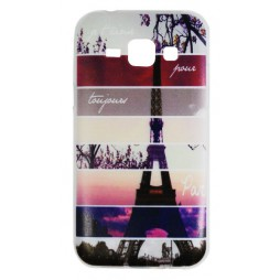 Samsung Galaxy J1 - Gumiran ovitek (TPUP) - Colorful Eiffel tower