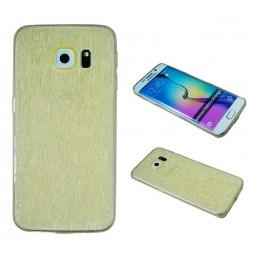 Samsung Galaxy S6 Edge - Gumiran ovitek (21B) - zlat