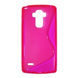 LG G4 Stylus - Gumiran ovitek (TPU) - roza-prosojen SLine