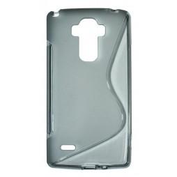 LG G4 Stylus - Gumiran ovitek (TPU) - sivo-prosojen SLine