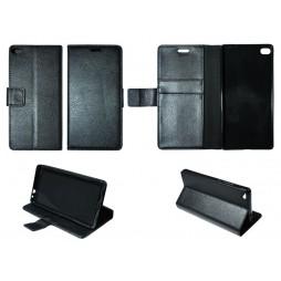 Huawei P8 - Preklopna torbica (WLG) - črna