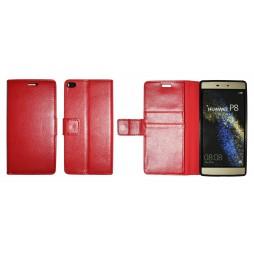Huawei P8 - Preklopna torbica (WLG) - rdeča