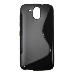 HTC Desire 526 - Gumiran ovitek (TPU) - črn SLine