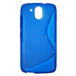 HTC Desire 526 - Gumiran ovitek (TPU) - modro-prosojen SLine