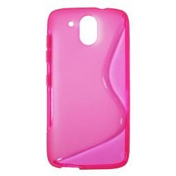 HTC Desire 526 - Gumiran ovitek (TPU) - roza-prosojen SLine