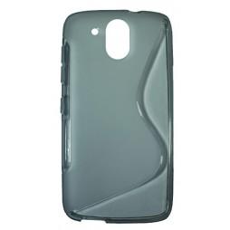 HTC Desire 526 - Gumiran ovitek (TPU) - sivo-prosojen SLine