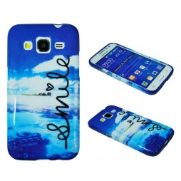 Samsung Galaxy Core Prime - Gumiran ovitek (TPUP) - Smile