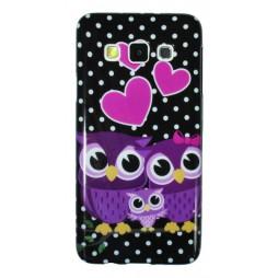 Samsung Galaxy A3 - Gumiran ovitek (TPUP) - Owls in lowe