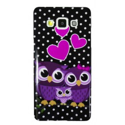 Samsung Galaxy A5 - Gumiran ovitek (TPUP) - Owls in love