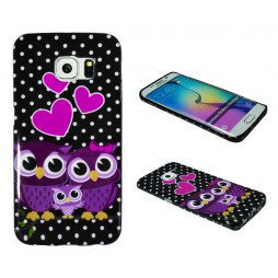Samsung Galaxy S6 Edge - Gumiran ovitek (TPUP) - Owls in love
