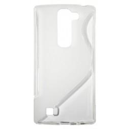 LG G4c/Magna/L Bello Plus - Gumiran ovitek (TPU) - belo-prosojen SLine